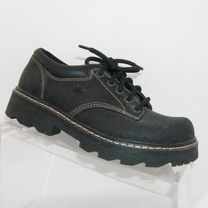 Skechers 'Parties-Mate' black leather shoes 6